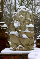 Snow-covered Ganesh.