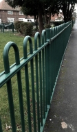 Railings in the street