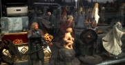 Lord of the Rings figures in the junk shop.