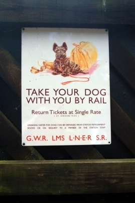 How cute is this old railway advertising board?