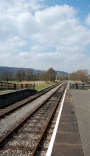 The view from Darley Dale Station, looking towards Rowsley South.
